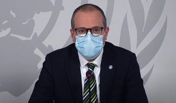Dr Hans Kluge: 'No one can predict the course of a pandemic.' (WHO Regional Office for Europe/YouTube)