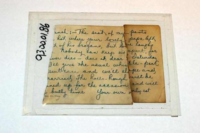<p>This love letter was found in 97 Orchard St. in 1993. (Photo: Caters News) </p>