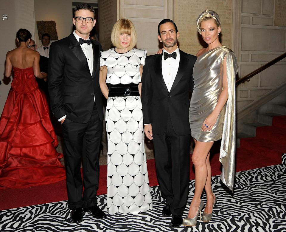 <p><strong>The theme: </strong>The Model as Muse: Embodying Fashion </p> <p><strong>The co-chairs: </strong>Justin Timberlake, Anna Wintour and Kate Moss </p> <p><strong>Honory chair: </strong>Marc Jacobs </p>