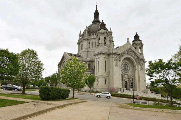 PHOTO: Roman Catholic churches, including the St. Paul Cathedral, shown Friday, May 22, 2020 in St. Paul, Minn., and Lutheran Church-Missouri Synod congregations across Minnesota, plan to resume worship services Sunday. (Jim Mone/AP)