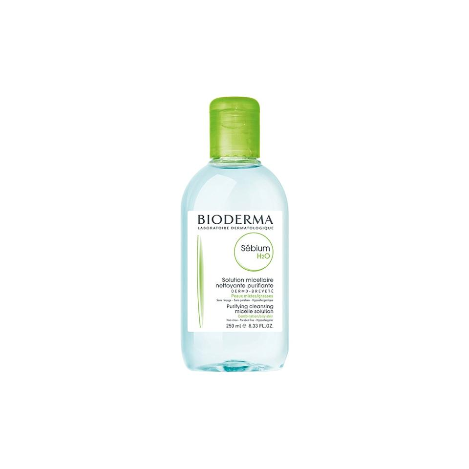 """<p>If you're not really into cleansing oils and have oily or combination skin, this gentle micellar water might be up your alley. It's designed to cleanse skin while also keeping oil production in check.</p> <p><strong>Buy it:</strong> $12 (originally $15), <a href=""""https://www.skinstore.com/bioderma-sebium-h2o-purifying-cleansing-solution-16.7-fl.-oz./11709489.html"""" rel=""""nofollow"""">skinstore.com</a></p>"""