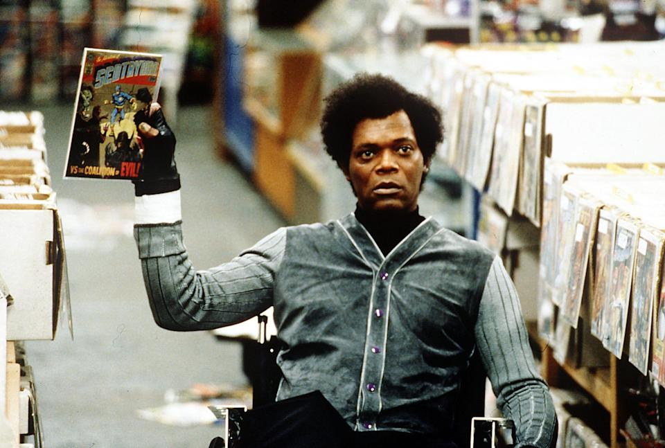 """Samuel L. Jackson plays a comic-book lover who's also quite the mastermind in """"Unbreakable."""""""