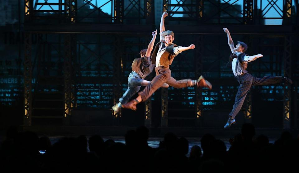 <p>Based on the 1992 musical film, <em>Newsies</em> tells the true story of the 1899 Newsboy strikes. The New York City-set piece saw Jeremy Jordan and John Dossett in the leading roles of newsie, Jack Kelly, and publisher, Joseph Pulitzer, respectively. The show opened in 2012 and ran for just over 1,000 performances before it began touring.</p>