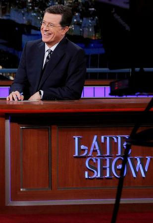"FILE PHOTO: ""The Late Show"" host Stephen Colbert during a taping of the show in the Manhattan borough of New York, U.S., June 23, 2016. REUTERS/Lucas Jackson/File Photo"