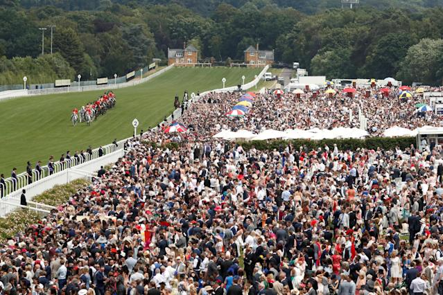 Horse Racing - Royal Ascot - Ascot Racecourse, Ascot, Britain - June 23, 2018 General view of the royal procession before the start of racing Action Images via Reuters/Andrew Boyers