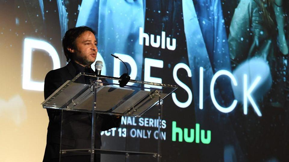 """""""Dopesick"""" writer-director and executive producer Danny Strong spoke during Monday's premiere at the at the Museum of Modern Art. - Credit: Frank Micelotta/Hulu/PictureGroup"""