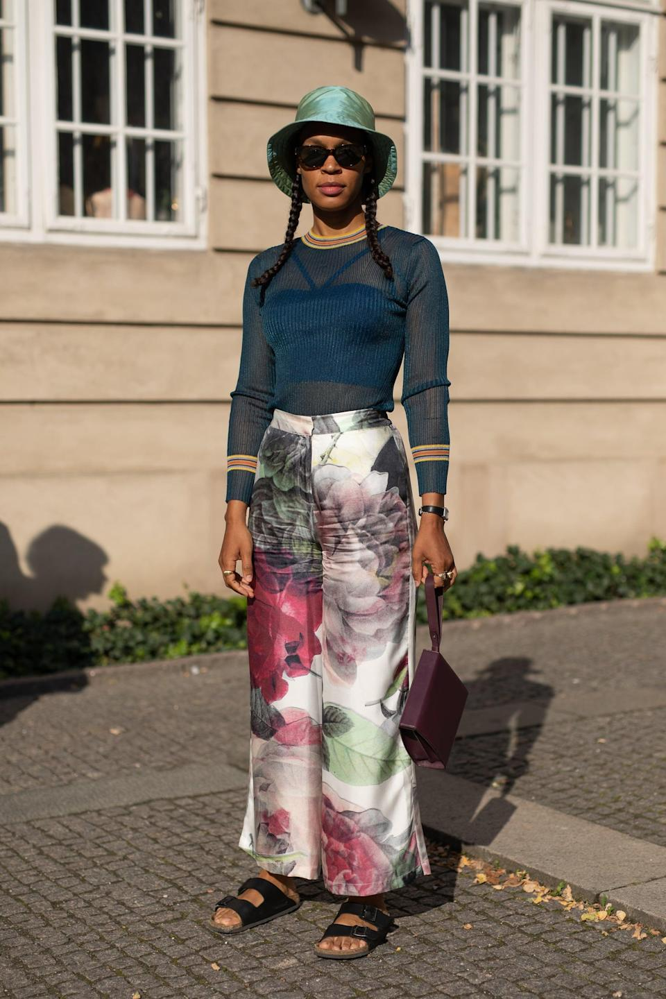 <p>Such a thing does exist. Palazzo pants, knitted trousers, and even oversize suit pants are the quickest route to looking like you tried, without sacrificing comfort.</p>