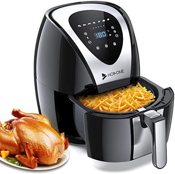 """<h2>Hosome Air Fryer</h2><br>Prime Day isn't Prime Day without a boatload of Instant Deals. Seriously — nearly every type of Air Fryer oven is on sale today. Our shopping director's mother (shout out, Sabina!) has been waiting for the pressure-cooker-air-fryer hybrid to go on sale so today is at least <em>one </em>person's lucky day.<br><br><strong>4.7 out of 5 stars and 7,449 reviews</strong><br><br><strong>Hosome Store</strong> Airfryer for Home, $, available at <a href=""""https://www.amazon.co.uk/Hosome-Airfryer-Touchscreen-Adjustable-Temperature/dp/B089W1YMDF/ref=sr_1_1_sspa?dchild=1&keywords=air+fryer&psr=PDAY&qid=1624348974&s=prime-day&smid=A3NUQJGXAPM0XQ&sr=1-1-spons&psc=1&spLa=ZW5jcnlwdGVkUXVhbGlmaWVyPUEyMk1RTVlKVklDUEg4JmVuY3J5cHRlZElkPUEwMjc1MDM2WVdBSTVTVFFMSExLJmVuY3J5cHRlZEFkSWQ9QTA5NDU4MjFNV085TTRIVjhYMDMmd2lkZ2V0TmFtZT1zcF9hdGYmYWN0aW9uPWNsaWNrUmVkaXJlY3QmZG9Ob3RMb2dDbGljaz10cnVl"""" rel=""""nofollow noopener"""" target=""""_blank"""" data-ylk=""""slk:Amazon"""" class=""""link rapid-noclick-resp"""">Amazon</a>"""