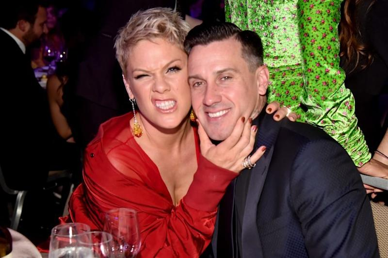 We're in tears reading Carey Hart's tribute to Pink on their anniversary