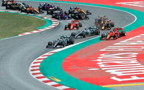 The start of the Spanish Grand Prix - Credit: AFP