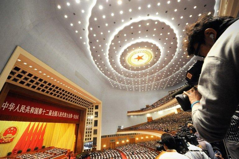 The Great Hall of the People during the opening session of the National People's Congress (NPC), Beijing, March 5, 2013