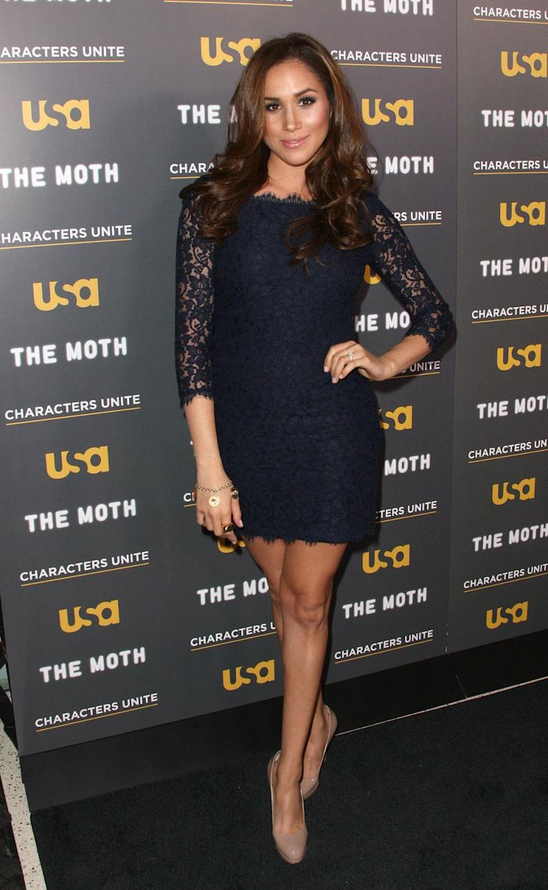 Prince Harry's girlfriend, Meghan Markle, also wore the same dress back in 2012. Photo: Getty Images