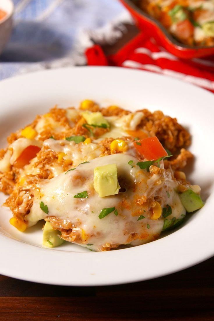 "<p>Get on that quinoa train.</p><p>Get the recipe from <a href=""https://www.delish.com/cooking/recipe-ideas/recipes/a50733/chicken-enchilada-quinoa-recipe/"" rel=""nofollow noopener"" target=""_blank"" data-ylk=""slk:Delish"" class=""link rapid-noclick-resp"">Delish</a>.</p>"