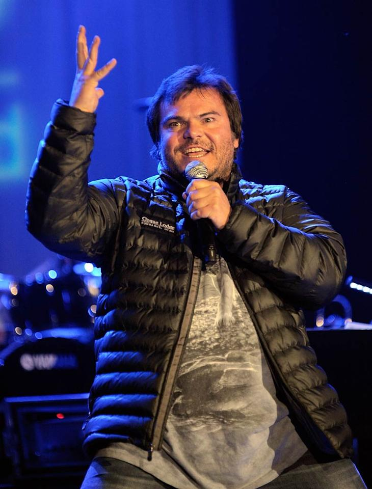 "Other celebs, such as Jack Black, also performed to benefit UNICEF's Schools for Africa campaign, which promotes education for all. Unlike Brooklyn, the Tenacious D star clearly enjoys the spotlight. Charley Gallay/<a href=""http://www.gettyimages.com/"" target=""new"">GettyImages.com</a> - May 17, 2011"