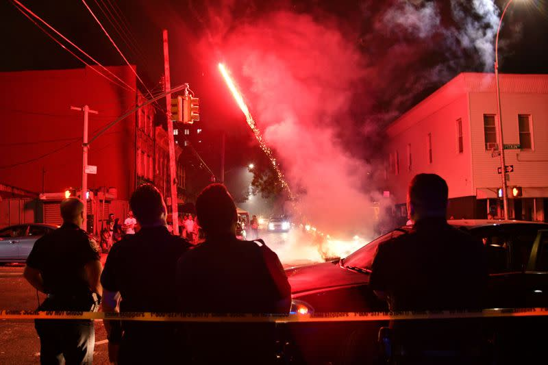 As New York grapples with shootings surge, gunshots mix with fireworks over holiday weekend