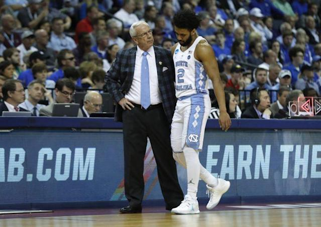 Joel Berry injured his ankle against Kentucky. (Getty)