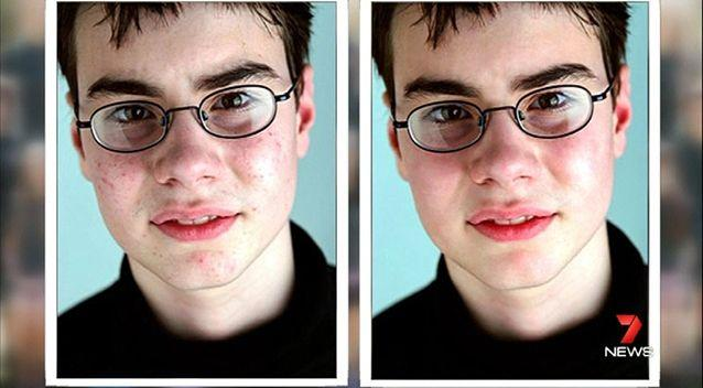One of the students' before and after shots. Photo: 7News