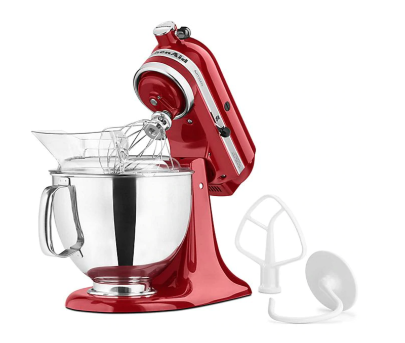 KitchenAid Artisan 5 qt. Stand Mixer with flat beater and dough hook included in package