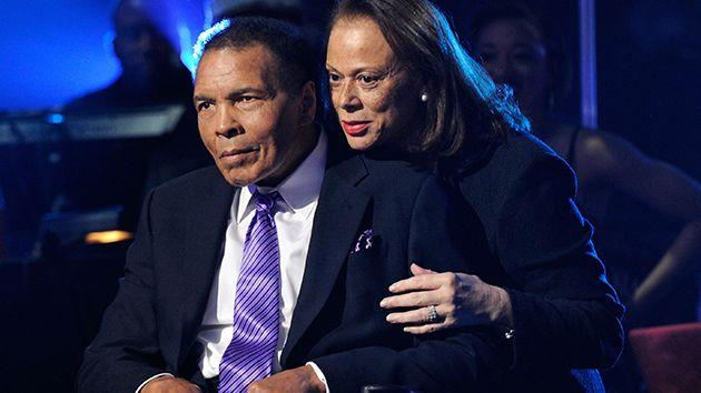 Ali and wife Lonnie in 2012. Image: Getty