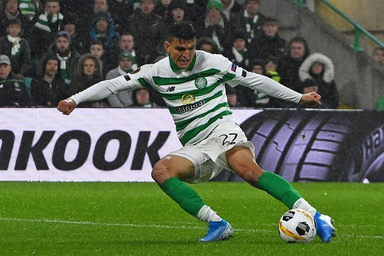 Mohamed Elyounoussi scored a hat-trick as Celtic beat Motherwell 4-1
