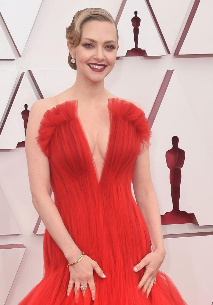 """<p>Back in 2015, Amanda said that her zodiac sign informs her beauty routine. She told Singapore-based <a href=""""https://www.femalemag.com.sg/beauty/actress-amanda-seyfried-shares-her-skincare-routine-the-latest-beauty-fad-shes-into/"""" rel=""""nofollow noopener"""" target=""""_blank"""" data-ylk=""""slk:Female magazine"""" class=""""link rapid-noclick-resp""""><em>Female</em> magazine</a> that her makeup must-have is """"red lipstick. I'm a Sagittarius, so I can be full of energy but still feminine and low maintenance. It's a statement.""""</p>"""