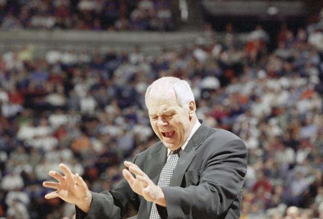 Legendary former Michigan State coach Jud Heathcote also was an influential figure at Gonzaga in retirement. (AP)