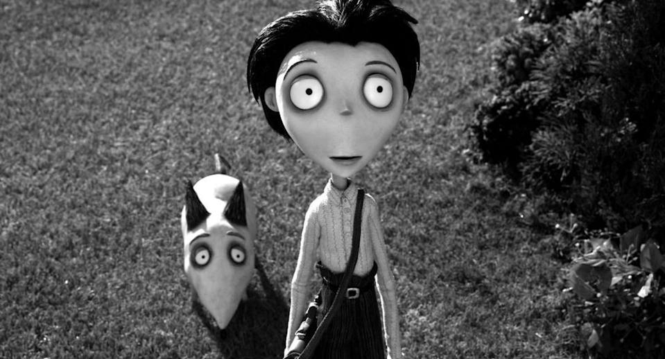 """<p>This movie — from Tim Burton, the master of kid-appropriate horror — is a twist on a classic Frankenstein tale, only about a kid STEM enthusiast instead of a mad scientist. The black-and-white, stop-motion animation keep it from getting too scary.</p><p><a class=""""link rapid-noclick-resp"""" href=""""https://www.amazon.com/Frankenweenie-Charlie-Tahan/dp/B00AOOHIJS?tag=syn-yahoo-20&ascsubtag=%5Bartid%7C10055.g.28038087%5Bsrc%7Cyahoo-us"""" rel=""""nofollow noopener"""" target=""""_blank"""" data-ylk=""""slk:WATCH ON AMAZON"""">WATCH ON AMAZON</a> <a class=""""link rapid-noclick-resp"""" href=""""https://go.redirectingat.com?id=74968X1596630&url=https%3A%2F%2Fwww.disneyplus.com%2Fmovies%2Ffrankenweenie-2012%2FmsxVowQvL18k&sref=https%3A%2F%2Fwww.goodhousekeeping.com%2Flife%2Fentertainment%2Fg28038087%2Fbest-scary-movies-for-kids%2F"""" rel=""""nofollow noopener"""" target=""""_blank"""" data-ylk=""""slk:WATCH ON DISNEY+"""">WATCH ON DISNEY+</a> </p>"""