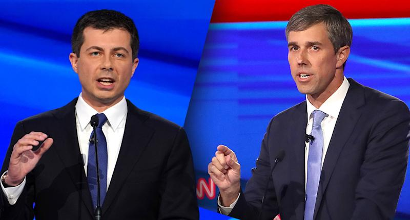 Pete Buttigieg, left, and Beto O'Rourke