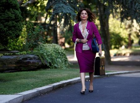 FILE PHOTO: Spain's Budget Minister Maria Jesus Montero arrives for a cabinet meeting at the Moncloa Palace in Madrid, Spain, July 6, 2018. REUTERS/Juan Medina/File Photo