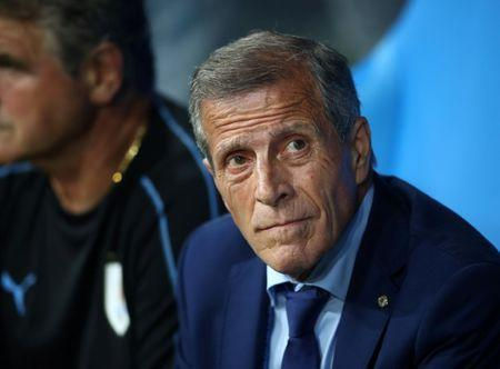 FILE PHOTO: Uruguay coach Oscar Tabarez before last 16 match against Portugal - Fisht Stadium, Sochi, Russia - June 30, 2018 REUTERS/Hannah Mckay/File Photo