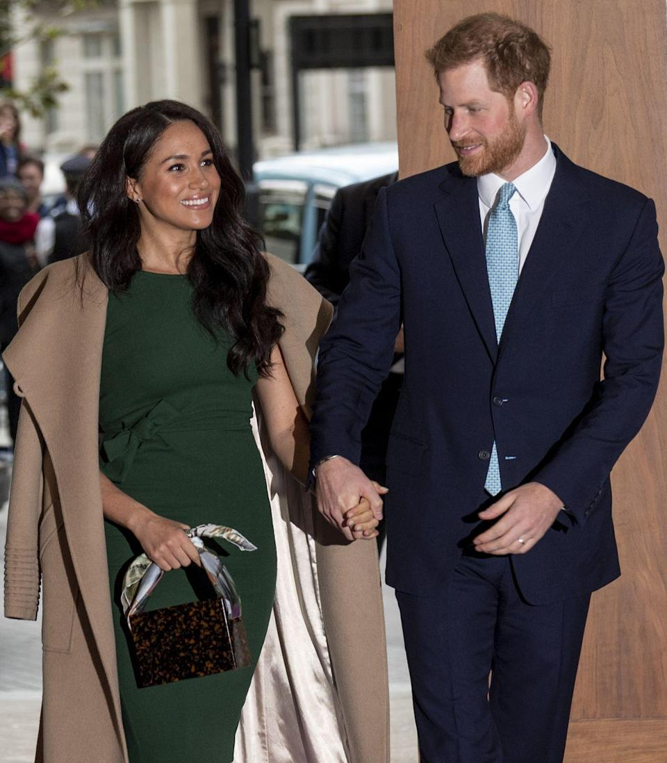 <p>Harry couldn't keep his eyes off of Meghan at the WellChild Awards. </p>