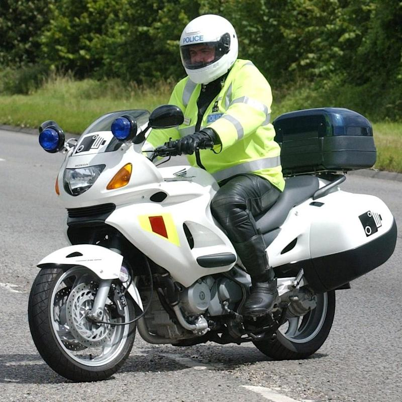 speed camera-carrying motorcycle - Credit: Barry Batchelor/PA