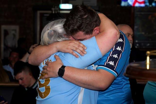 Manchester City fans were left distraught after the final failure