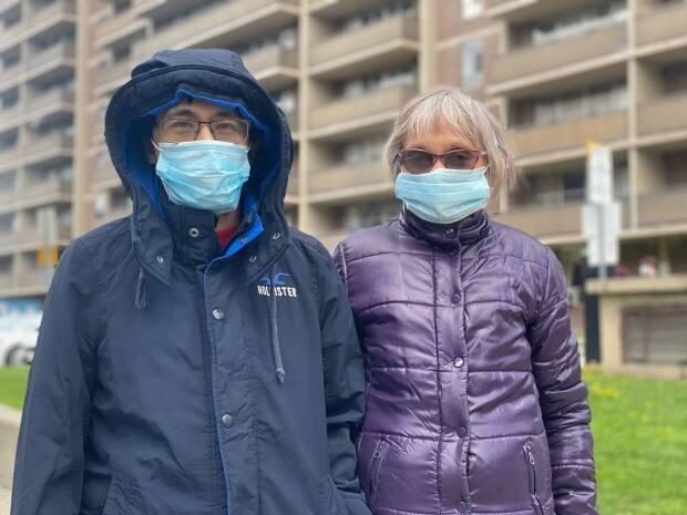 Theresa De Mesa, 61, and her son Anthony, 34, have called 1251 King St W home for more than three decades. (Talia Ricci/CBC - image credit)