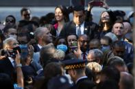 Biden participates in a ceremony at the 9/11 Memorial in New York