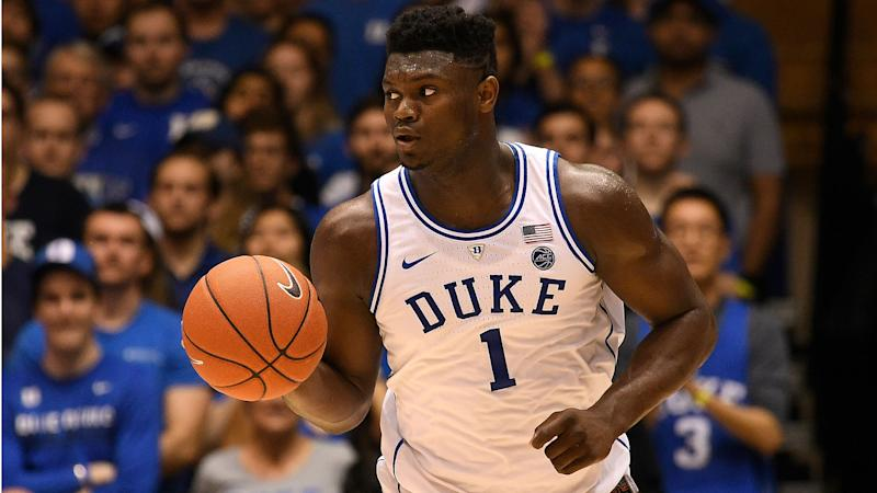 Duke Star Zion Williamson Suffers Sprained Knee In Loss To North Carolina