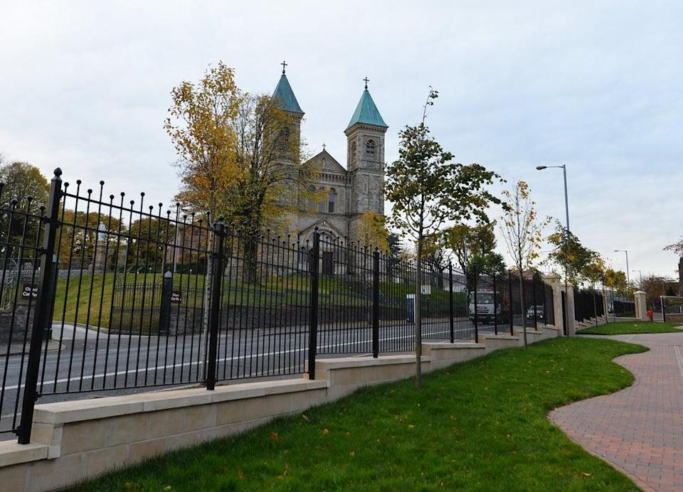 An area where a former peace wall stood at the top of the Crumlin Road in Belfast (NI Housing Executive/PA) (PA Media)