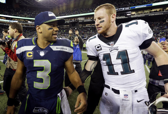"<a class=""link rapid-noclick-resp"" href=""/nfl/players/25785/"" data-ylk=""slk:Russell Wilson"">Russell Wilson</a> had another big game and a look around the rest of the league in Week 13 (AP Photo)."