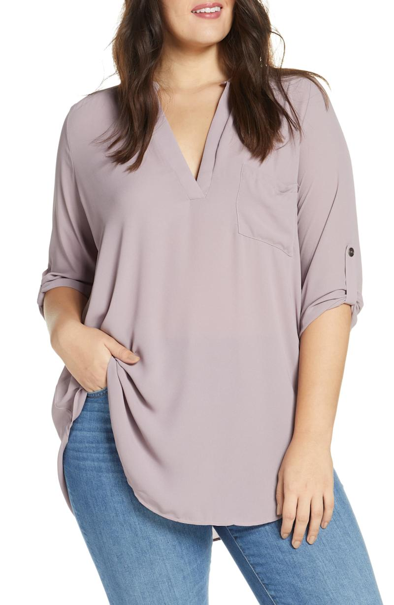 All In Favor Perfect Henley Tunic in quail