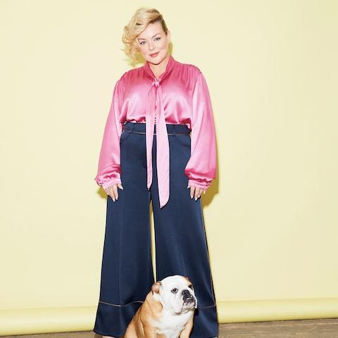 Sheridan wears: shirt, Gucci (matchesfashion.com). Trousers, Peter Pilotto (harveynichols.com). Shoes, Dune (dunelondon.com). Earrings, Phine (phine.london) - Credit: helen mcardle