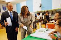 <p>Emhoff had some practice before joining his wife on the 2020 presidential campaign trail. In 2016, he joined her while she was campaigning to become senator of California. Here, they cast their votes in the senate race, which Harris ultimately won. </p>