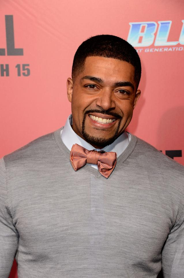 "HOLLYWOOD, CA - MARCH 05:Actor David Otunga arrives at the premiere Of Tri Star Pictures' ""The Call"" at ArcLight Cinemas on March 5, 2013 in Hollywood, California.  (Photo by Frazer Harrison/Getty Images)"