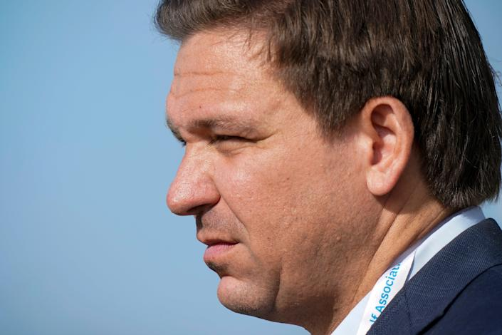 <p>Florida's governor, Ron DeSantis, may have the authority to intervene if Donald Trump is indicted in New York</p> (AP)