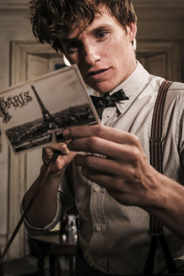 <p>Newt seems intrigued by this correspondence. (Photo: Jaap Buitendijk/Warner Bros.) </p>