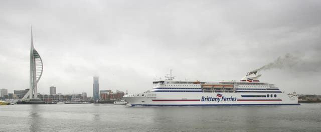 A ferry in Portsmouth (Chris Ison/PA)