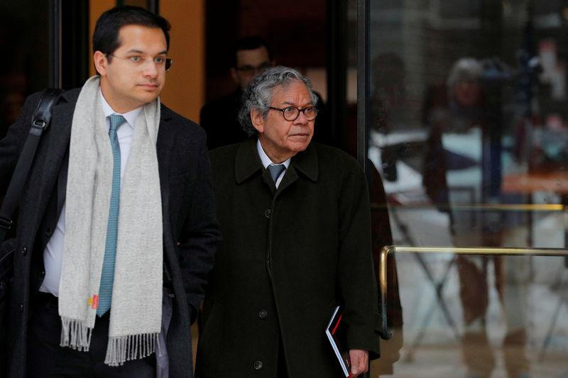 FILE PHOTO: John Kapoor the billionaire founder of Insys Therapeutics Inc. leaves the federal courthouse in Boston