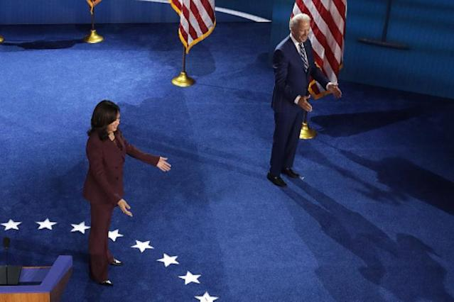 Kamala Harris Grand Finale Involved Awkward Pointing An Empty Auditorium And A Zoom Mistake