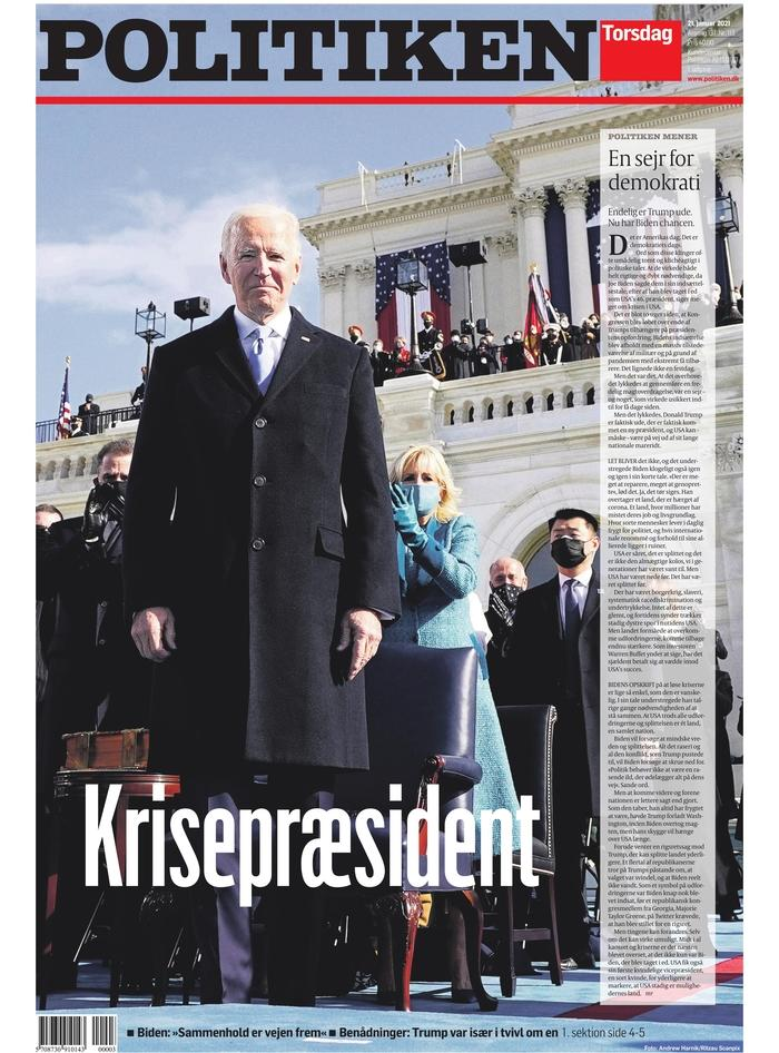 January 21, 2021 front page of Politiken