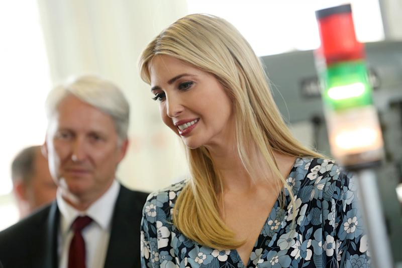 Ivanka Trump on a recent visit to Berlin, Germany: Sean Gallup/Getty Images