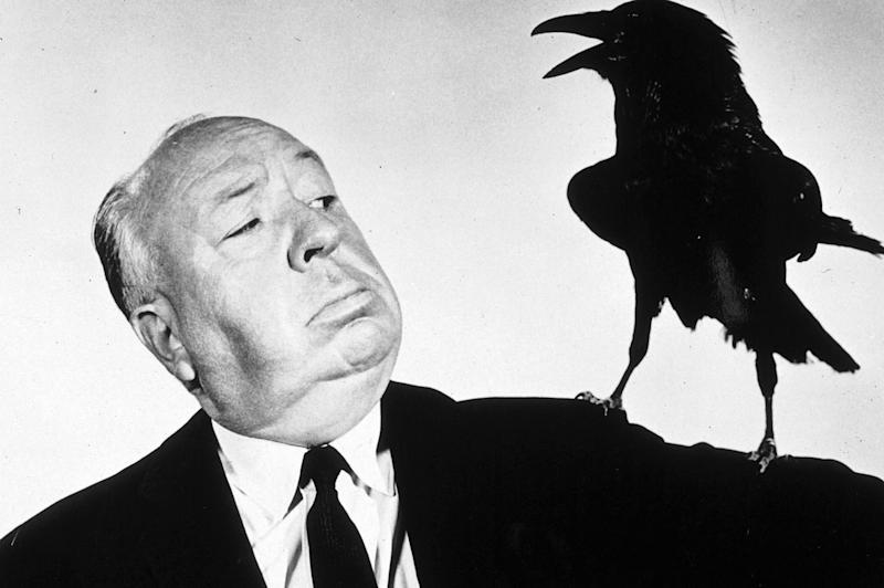 Hitchcock promoting his film 'The Birds'Rex